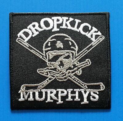 DROP KICK MURPHYS CELTIC PUNK BAND Easy Iron On HOCKEY Patch Free/Ship