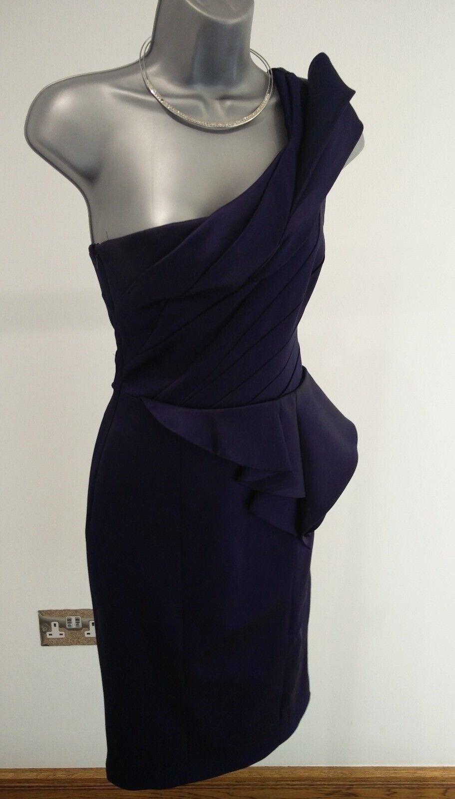 damen KAREN MILLEN ELEGANT NAVY Blau TIGHT FIT BODYCON DRESS