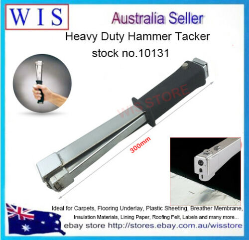 Heavy Duty Manual Hammer Tacker,140 Type Stapling Hammer for Insulation Job10131