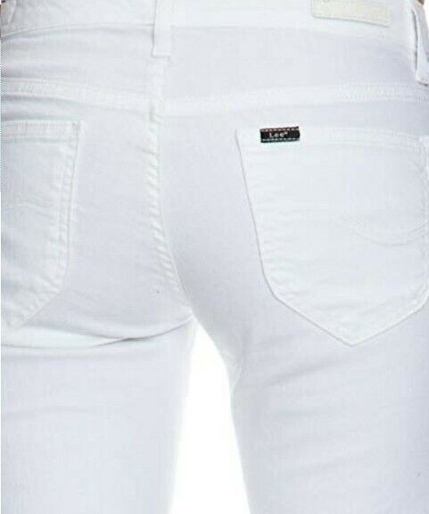 Lee Damen Jeans Slim Fit MARLIN - L337BG12 Gr. 25 31 Weiß (Weiß) - NEU