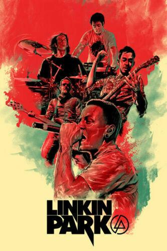W104 Linkin Park Music Group Singer Star Rock 24x36/'/' Art Poster