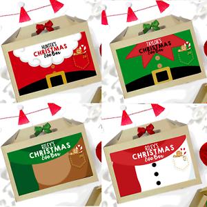 Personalised-Vigilia-di-Natale-di-SANTA-amp-ELF-Natale-Favore-Regalo-Borsa