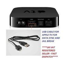 USB DATA SYNC CABLE FOR APPLE TV 2ND, 3RD GEN FOR DATA TRANSFER, JAIL BREAK ETC