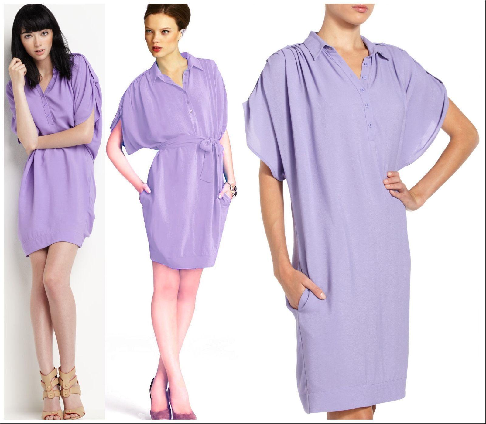365 Diane Von Furstenberg DVF Freesia Karin Crepe Belted Shirt Dress 4