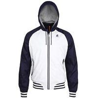 K-way Men's Jimmy College Hooded Jacket Waterproof Windbreaker $159 Xl