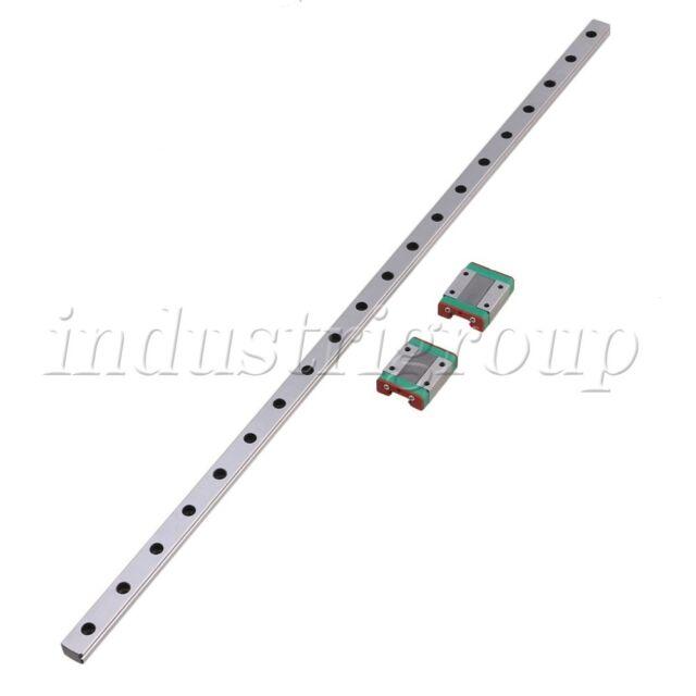 50cm MGN15 Precision Bearing Steel Linear Sliding Guide Rail /& 2 Sliding Block