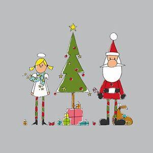 Weihnachten-20-Servietten-Holy-Christmas-Angel-Santa-amp-Tree-Engel-Santa-amp-Baum