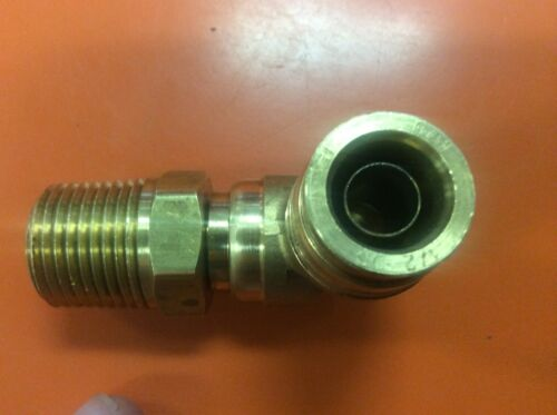 """Brass DOT 90º Elbow 1//2/"""" OD x 1//2 NPT Male Quick Push In to Connect Lock Fitting"""