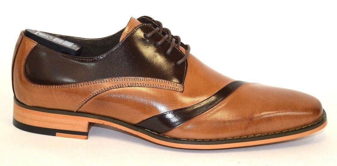 Mens Dress schuhe Folded Vamp Vamp Vamp Oxford Tan braun Leather STACY ADAMS TALMADGE 25193 65a4eb