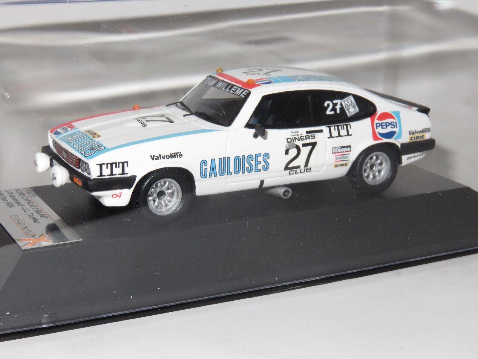 1 43 Ford Capri Mk3 3.0S Pepsi Gauloises 24 Hrs Spa 1980 J.PJaussaud J.L Therier