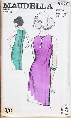 "Maudella Vintage Sewing Pattern 5339 Blouse 1960s 34/"" 40/"" Size 10 16 Ladies"