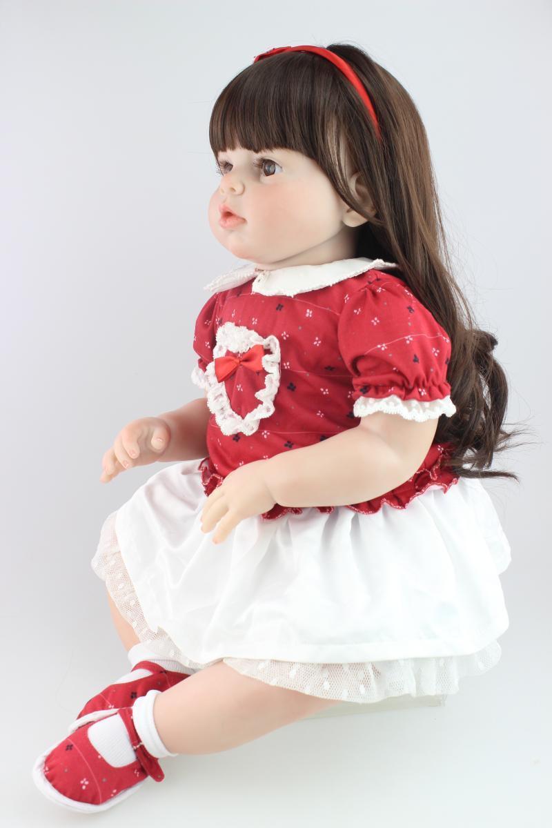70cm Muñecas Reborn Bebé niñas juguetes educativos un año de edad Azul Bebe Regalo De Navidad
