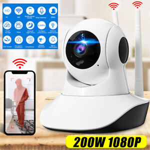 HD 1080P Panoramic Night Vision Alarm CCTV Camera Wireless Wifi Baby Pet Monitor