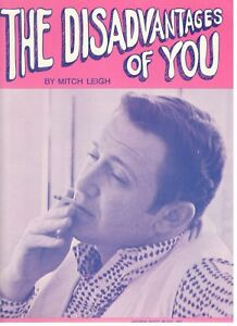 Mitch Leigh The Disadvantages Of You Sheet Music Extremely Rare 1967 Brand New Ebay