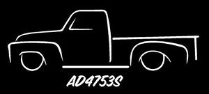 Details about 1947-1953 Chevy 3100 AD Advance Design Truck Side Profile  India Ink Style decal