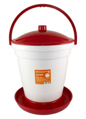 Geflügeltränke-tränkeeimer PVC 18 litros pociones para pollos aves de corral novital