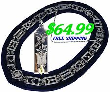 Masonic Collar Blue Lodge House FREEMASON Junior Warden Jewel PACKAGE DMR400SBJW