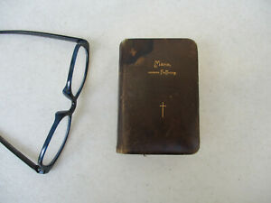 German-Prayer-book-Catholic-Christians-Leather-Cover-Antique-Mary-Mother-1887