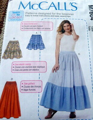 McCall/'s 8857  Girls/' Skirts   Sewing Pattern