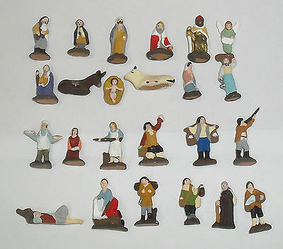 Pastore artigianali landi cm 3,5  pastori 10 pezzi assortiti presepe crib