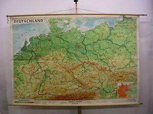 Schulwandkarte-map-Deutschland-Germany-Schlesien-Ostpreussen-244x168-Karte-1960