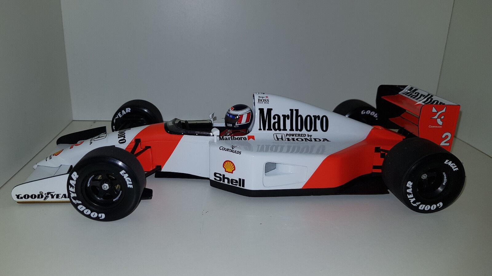 Minichamps 1 18 McLaren Honda MP4-7 G Berger 1992 530921802 Marlbgold Livery