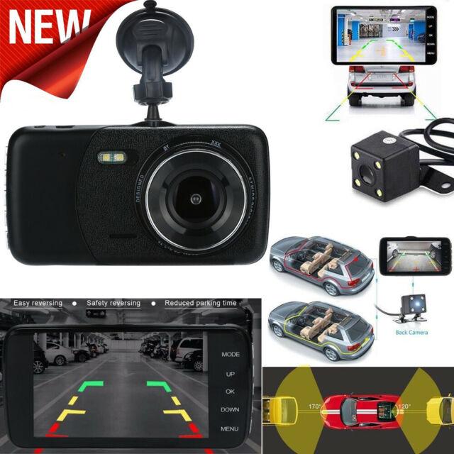 4''LCD IPS Dual Lens Car Dash Cam FHD 1080P Dashboard Camera 170° Driving DVR