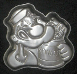 Wilton Cake Pan POPEYE & Spinach Can 502-1719 1980