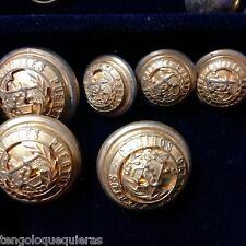 Lote de 6 botones militares antiguos de gala de INGENIEROS DE CAMINOS Y CANALES