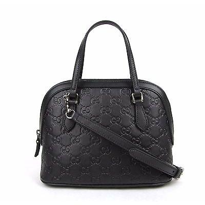 Gucci Convertible Guccissima Crossbody Mini Dome Purse Black 341504 1000