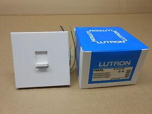 lutron nf 10 277 wh single pole slide dimmer flourescent. Black Bedroom Furniture Sets. Home Design Ideas