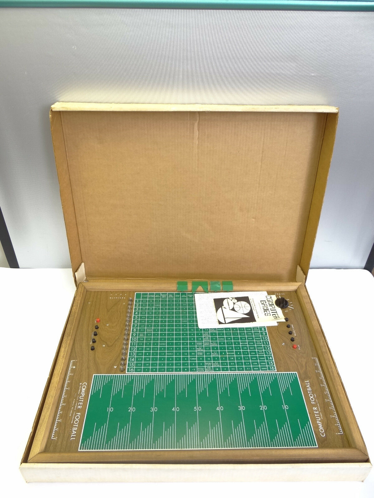 Vintage Electronic Data Controls Computerized Football Board Tabletop Game Parts
