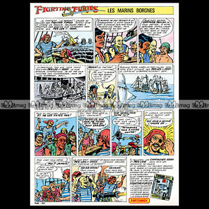 MATCHBOX-Lesney-FIGHTING-FURIES-Pirate-Action-Figure-Strip-BD-1975-Pub-Ad-A898