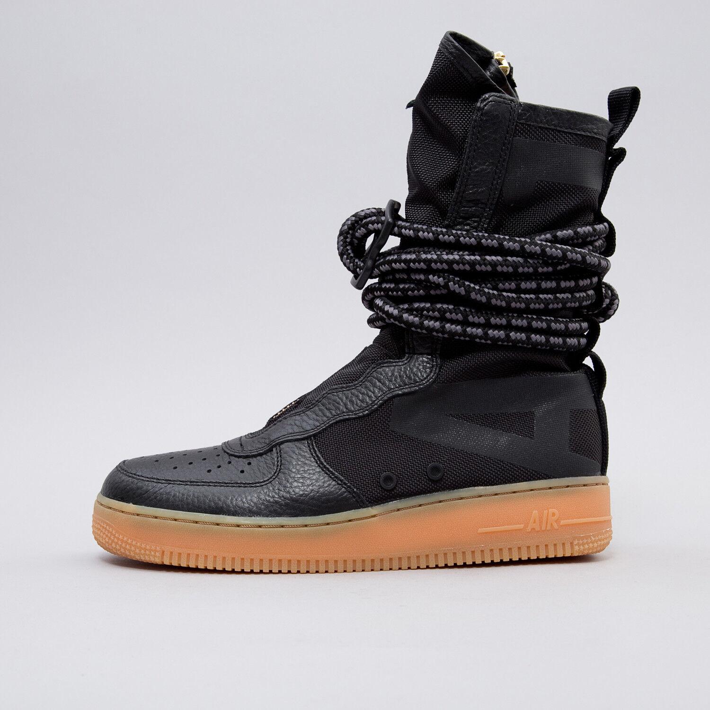 Nike uomini sf speciale sul campo af1 ciao nero / gomma medio brown taglia 10 nuove di zecca
