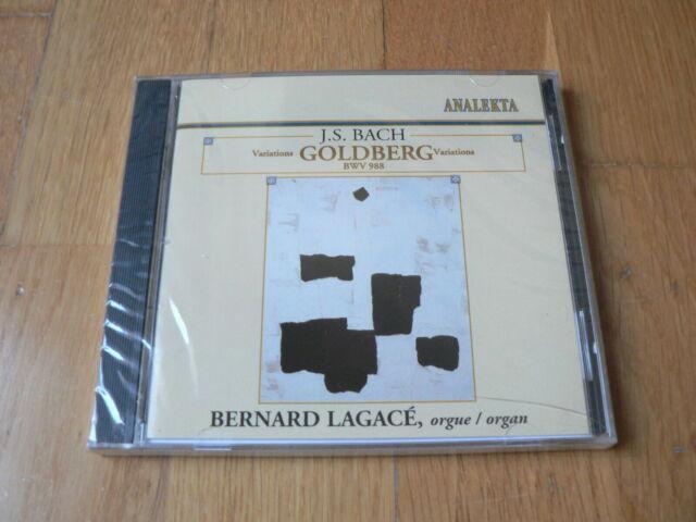 Bernard Lagacé - Bach : Variations Goldberg BWV 988 - CD Analekta NEW