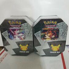 Pokemon TCG Celebrations 25th Anniversary Lance's Charizard V Tin *New/Sealed*