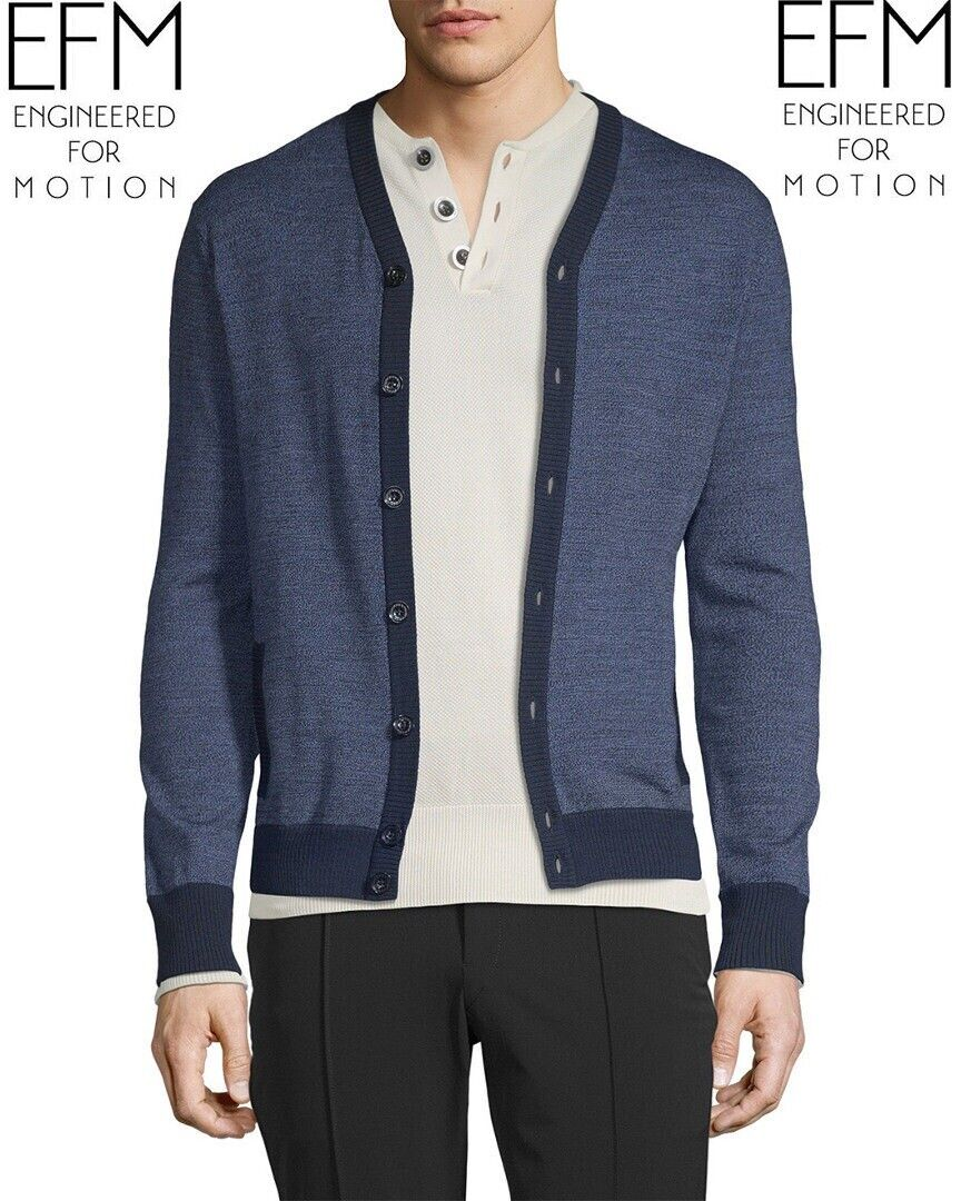 NWT EFM ENGINEErot FOR MOTION SEXY MANLY WOOL BI-Farbe CARDIGAN SWEATER M  325