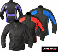 AKITO Motorbike Waterproof Jacket Coat Motorcycle Armours PYTHON SPORTS BLACK