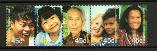 CHRISTMAS ISLAND 2000 NEW MILLENNIUM FACE OF XMAS ISLAND HORIZ STRIP 5