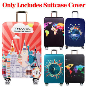 Elastic-Luggage-Case-Cover-Trolley-Protector-World-Map-Suitcase-Dustproof