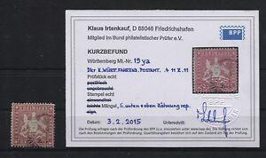Wuerttemberg-19-y-a-gestempelt-BPP-Kurzbefund-B04405