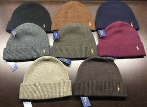 0b70babcd Details about NEW Polo Ralph Lauren Men signature cuffed 100% MERINO WOOL  hat beanie msrp $45