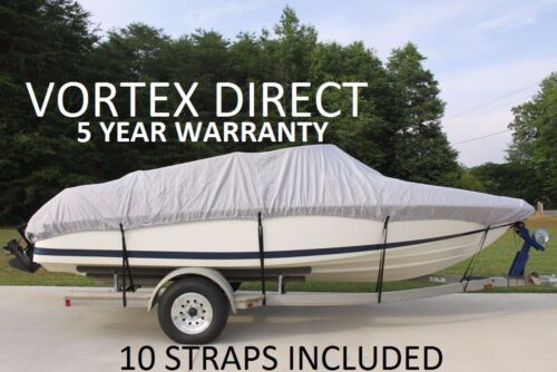 NEW VORTEX HEAVY DUTY FISHING/SKI/RUNABOUT/BOAT COVER 23-24 FT ...