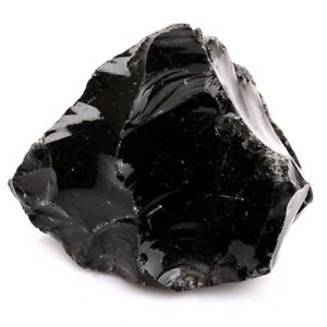 Rough-Natural-Black-Obsidian-Tumbled-Raw-Healing-Crystal-Stone-Mineral-Specimen