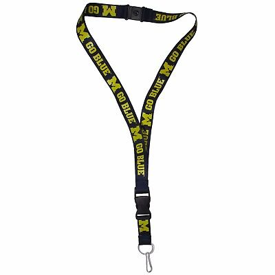 "Michigan Wolverines 21"" Lanyard Key Chain with Safety Release NCAA Licensed"