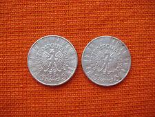 2 Silver Uncleaned Coins Poland Polish Polska 5 Zlotych 1936 1934 Nr 2594