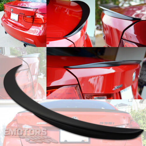 Matte Black Painted For BMW 3-Series F30 F80 P Type Boot Trunk Spoiler 18