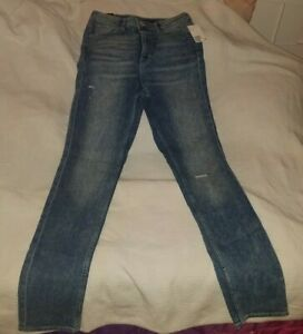 Womens-H-amp-M-slim-high-waist-jeans-size-10-new-with-tags