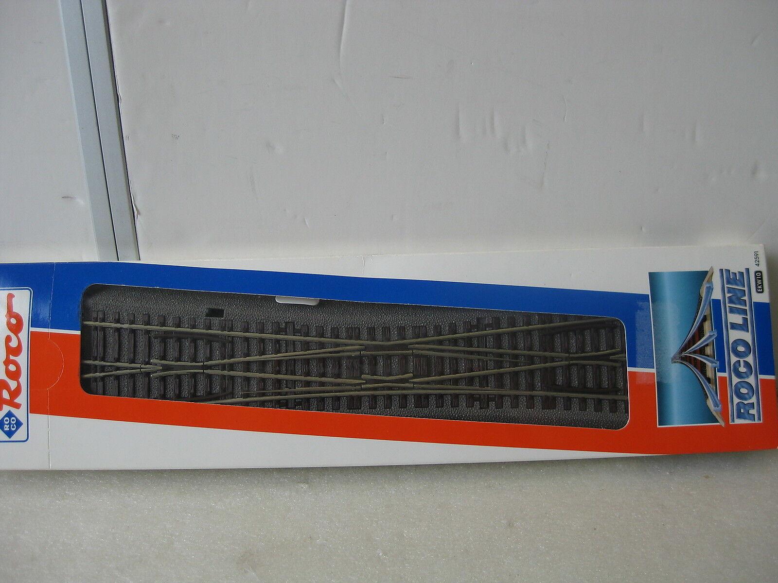 ROCO   42591 ROCO LINE KREUZUNGSWEICHE EW10° mit Bettung NEU & OVP  | Ausgewählte Materialien