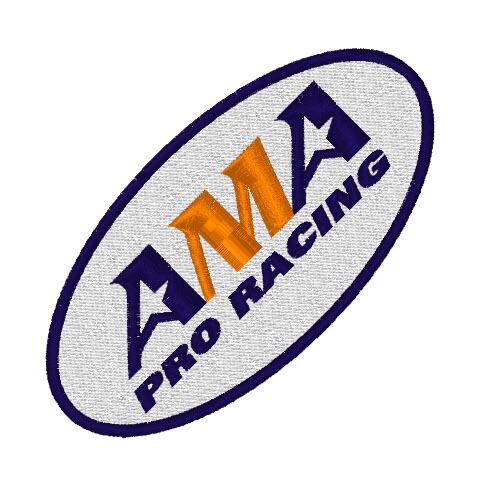 BIKER RACING ricamate ama Pro Racing 9 x 4,5 cm